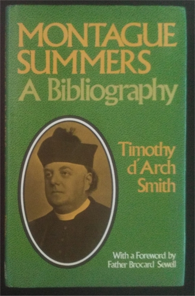 montague summers bibliography