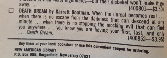 death dream garrett boatman