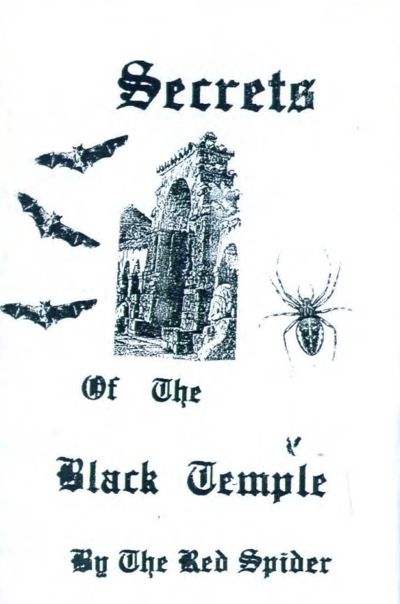 secrets of the black temple by the red spider