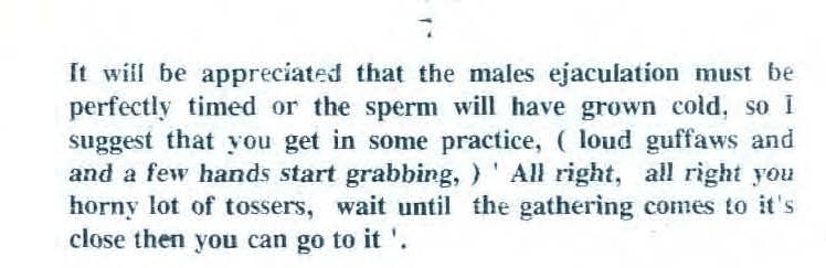 tosser sperm